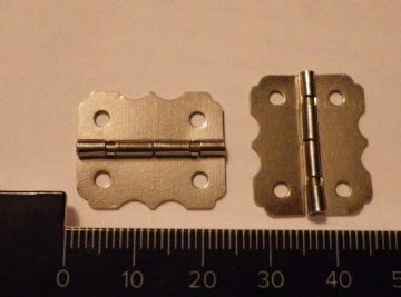 4 x Hinges Box 23x20mm Dollhouse Jewelery wooden box butterfly silver color C019